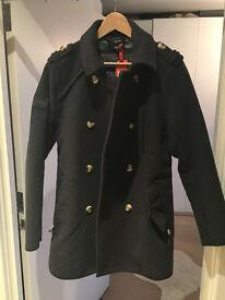 BNWT Superdry Men's Wool Blend Coat Off Jermyn Street, Grey, Medium