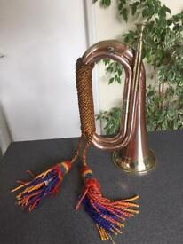 Military style Bugle Copper and Brass