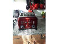 Morphy richards red 4 slice toaster