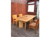 Ansager Mobler dining table & retro chairs, bargain free delivery