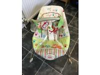 Vibrating bouncer chair for sale