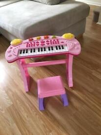 Childs piano pink