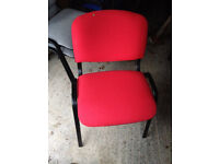 office meeting conference chair in red