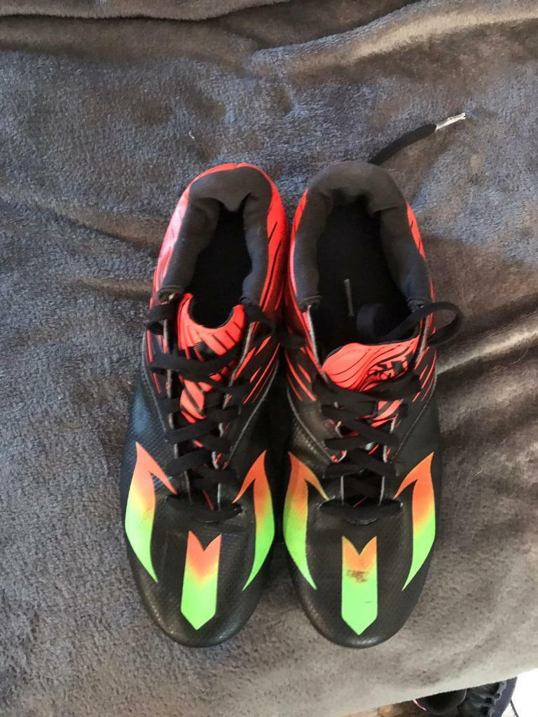Adidas messi green and black football boots size 10 | in Norwich, Norfolk | Gumtree