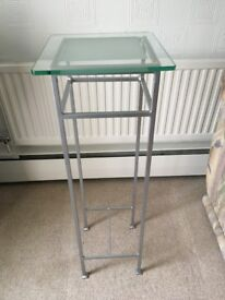 Tall Glass Top Table