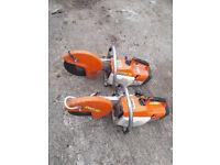 Two STIHL TS400 petrol grinders