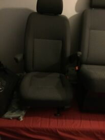 Front single and double front seats