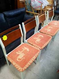 Vintage Retro Dining Chairs Set of 4.