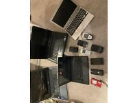 Laptops an phones joblot