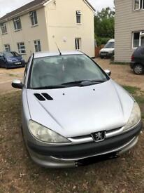 Silver Peugeot 206