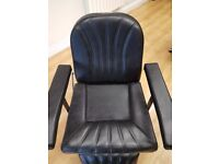 Barber chairs removable head rests in good clean condition