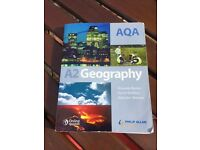 A-level Geography Textbook (AQA), used for sale  Surrey