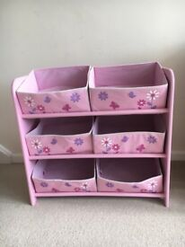 Kids pink storage unit