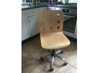 Light Wood Office Chair