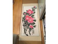 Japanese wall scroll(indian ink painting)
