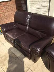 Two x 2 seater leather sofa FOR FREE