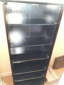 DVD/CD smoked glass cabinet