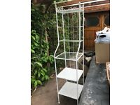 FREE Glass and metal shelving unit