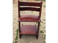 Stokke High chair in walnut 2001 version.