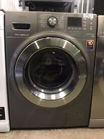 Samsung Ecobubble WF80F7E6U6X Washing Machine in Graphite