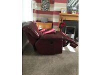 Large Leather Electric Recliner