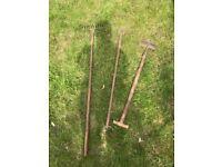 Graden tools £10 for 3 Soil Rake, Dutch Hoe, Edging Blade
