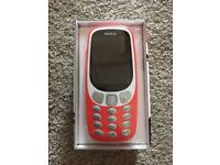 Nokia 3310 3G Warm Red Sim Unlocked New