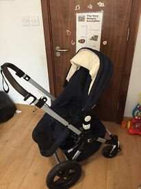 Used Bugaboo cameleon 3 plus in classic navy with receipts and warranty. Bassinet unused unopened