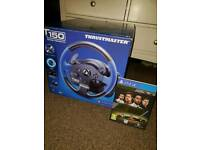 Thrustmaster T150 ps4 steering wheel and game