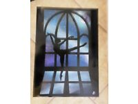 Original Space Spray Painting 'Dancer by Moonlight' NOT A PRINT