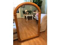 Large solid pine arch mirror