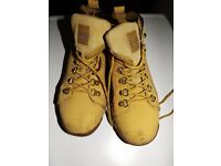 Groundwork Safety Steel Toe Cap Ankle Work Boots/Shoes Honey Size 8 Lace Up