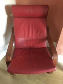 Nursing/BreastFeeding Chair Burgundy Red Relaxer
