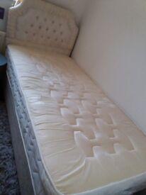 Single bed base mattress & headboard for sale