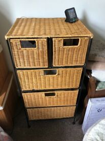 Wicker/wrought iron drawers