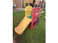 Litlle tikes toddler slide climber with basket