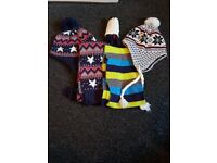 Kids hats and scarves