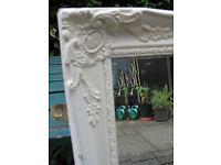 Ornate white/gold Framed Mirror