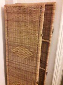 3 part wicker/woven room divider