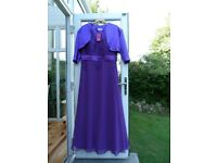 NEW w TAGS Cadbury Purple Bridesmaid / Ball / Prom Dress Gown sz 20 + Shrug Bolero XL