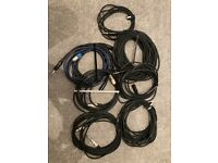 Job lot of various free audio cables