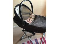 Mamas and papas carry cot with stand