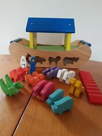Wooden Noah's Ark Shape Sorting Toy