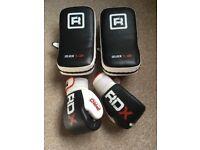 RDX Elite Boxing Gloves (14oz) - MMA Strike Thai Pads