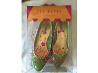 Green Ted Baker Shoes Size 6 new with defects boxed