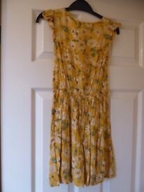 Next Yellow flowery girls dress