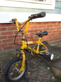 Kids Bike - 12 inch Wheels with Stabilizers