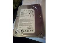 Internal 250GB hard drive.