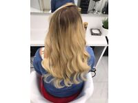Selling brand new Virgin Russian 20 inch blonde hair extensions FULL HEAD