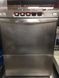 Sammic sl21 commercial under counter glasswasher glass pot wash serviced tested